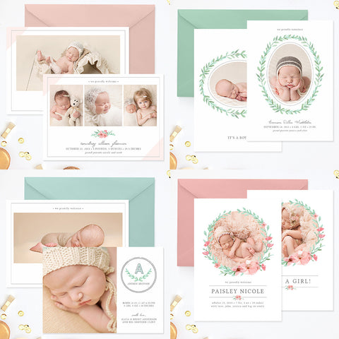 baby girl announcement templates