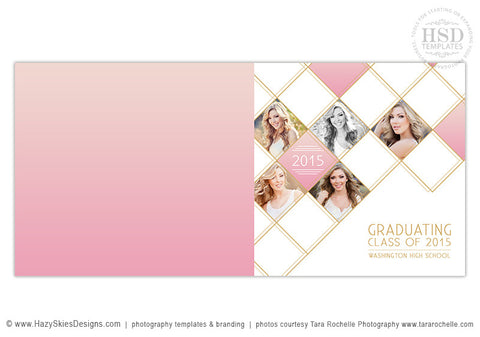 Senior Book Album Cover Template | Glam