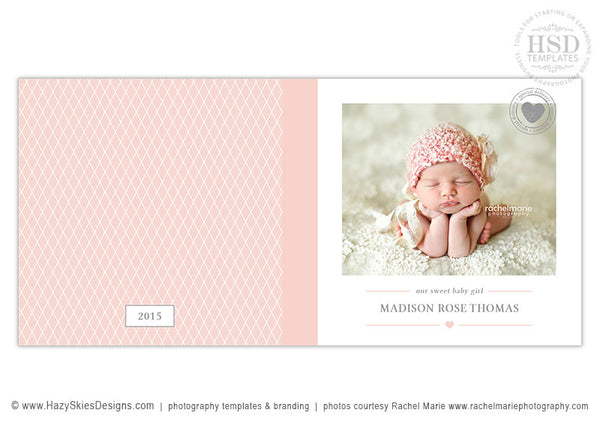 Baby Girl Book Album Cover | Heart Stamp