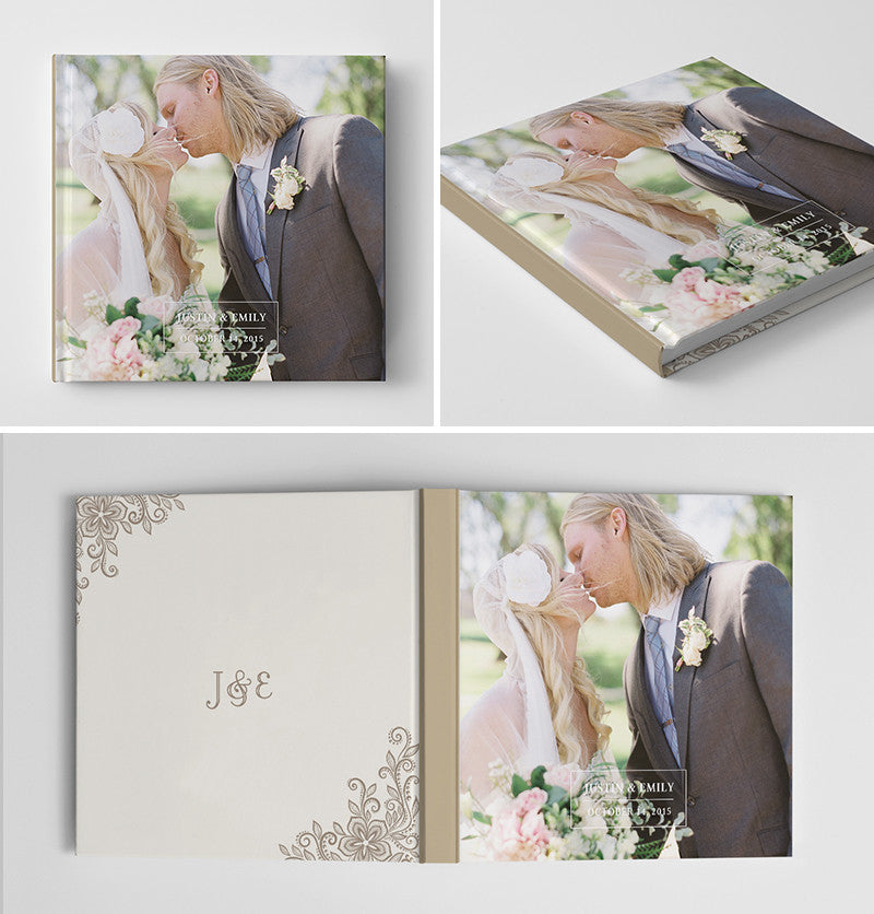 Wedding Photoshop PSD Photo Book Album Template for Photographers ...