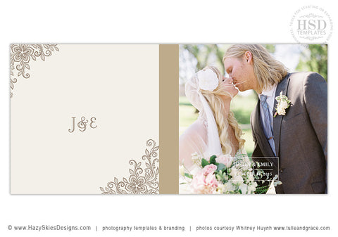 Wedding Book Album Cover Template | Hitched