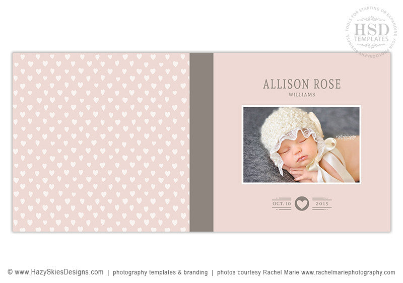 baby girl photo book template photoshop album template