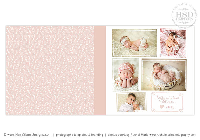 baby book cover template
