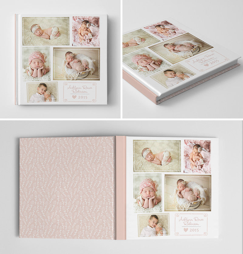 Newborn Baby Photoshop Photo Book Album Template For Photographers