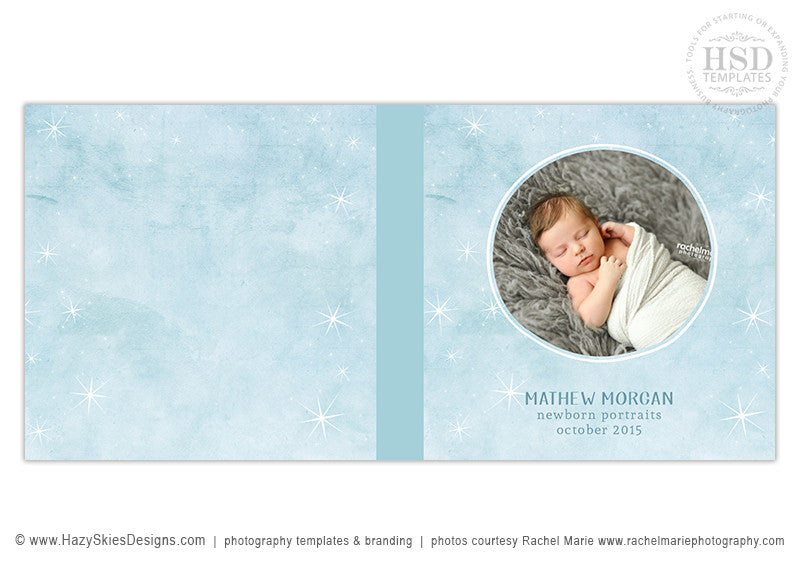 Newborn Baby Photoshop Photo Book Album Template for Photographers ...