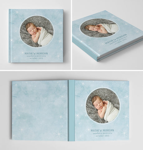Newborn Book Album Cover Template | Sweet Dreams