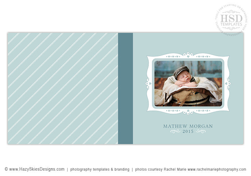 Baby Newborn Photoshop Photo Book Album Template for Photographers ...
