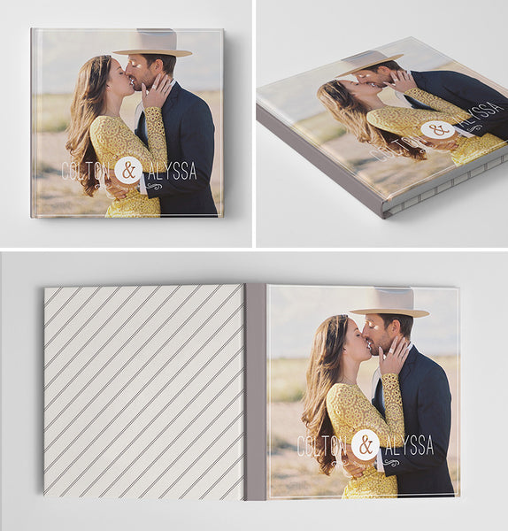 Engagement Book Album Cover Template | Our Story