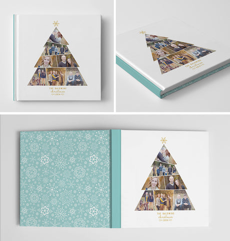 Holiday Book Album Cover Template | Christmas Tree