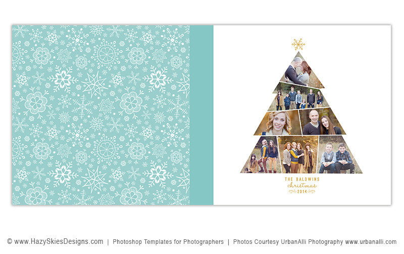 Christmas Photoshop PSD Photo Book Album Template for Photographers ...