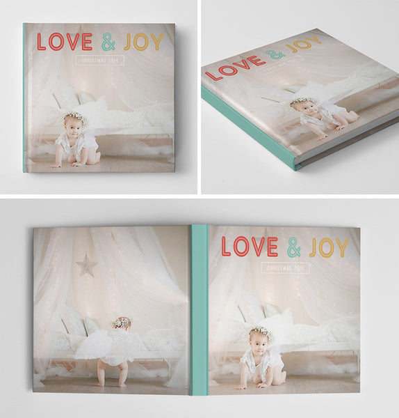 Holiday Book Album Cover Template | Love & Joy