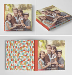 Holiday Book Album Cover Template | Christmas Memories
