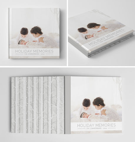 Holiday Book Album Cover Template | Winter Wonderland