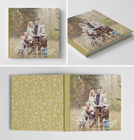 Holiday Book Album Cover Template | Pine