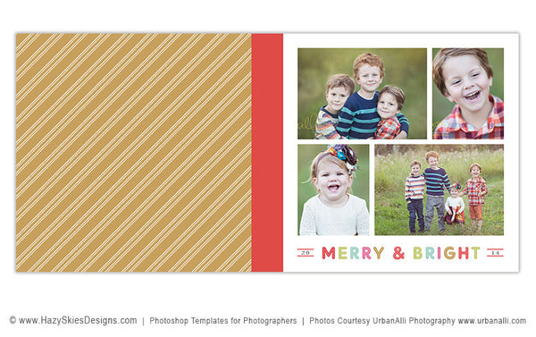 Holiday Book Album Cover Template | Merry & Bright