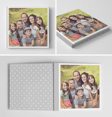 Holiday Book Album Cover Template | Snowflakes