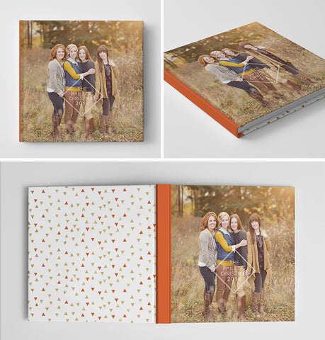 Holiday Book Album Cover Template | Be Merry