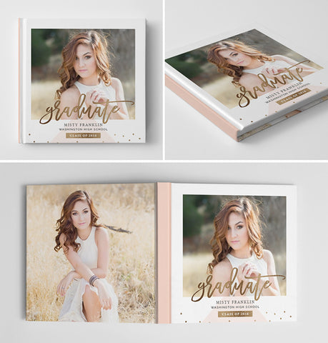 Senior Book Cover Template | Gold Grad
