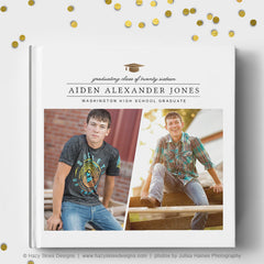 Senior Book Cover Template | Graduation Cap