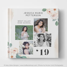 Senior Album Cover Template | Floral Fashionista