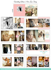Wedding Book Template for Photographers  | Our Love Story