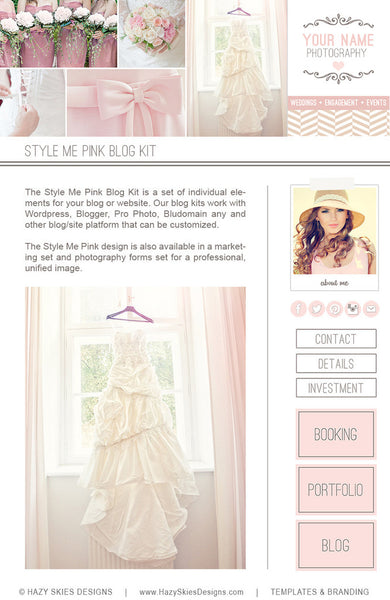 Photography Blog Kit | Style Me Pink
