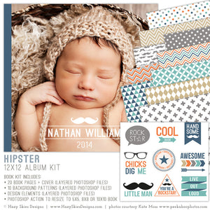 Photo Book Template for Boys | Hipster