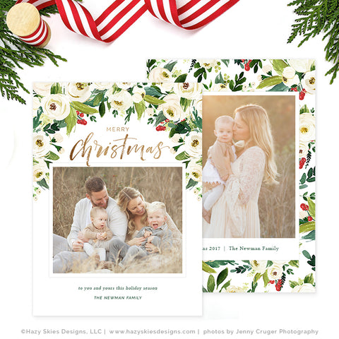 holiday photo cards template