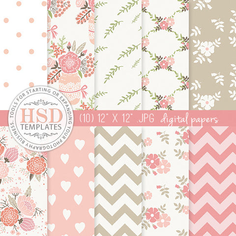Digital Paper Pack | Rose