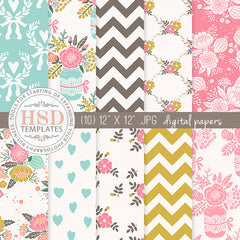 Digital Paper Pack | Daisy
