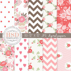 Digital Paper Pack | Strawberry