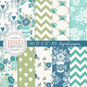 Digital Paper Pack | Blueberry