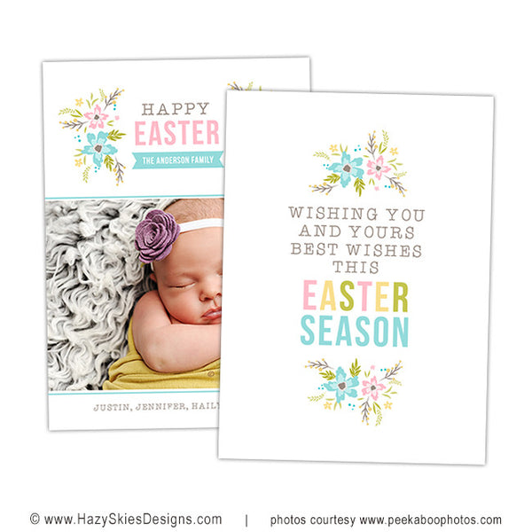 Easter Card Template | Flowers Bloom
