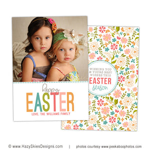 Easter Card Template | Spring Flowers
