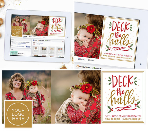 FREE Facebook Timeline Cover Template | Deck the Halls