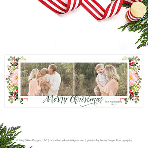 Facebook Cover Template | Merry Christmas Calligraphy
