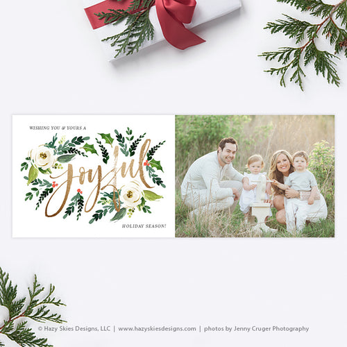 Christmas Facebook Cover Template | Joyful