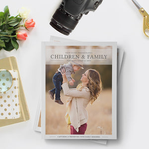 Photography Magazine Template | Children & Family