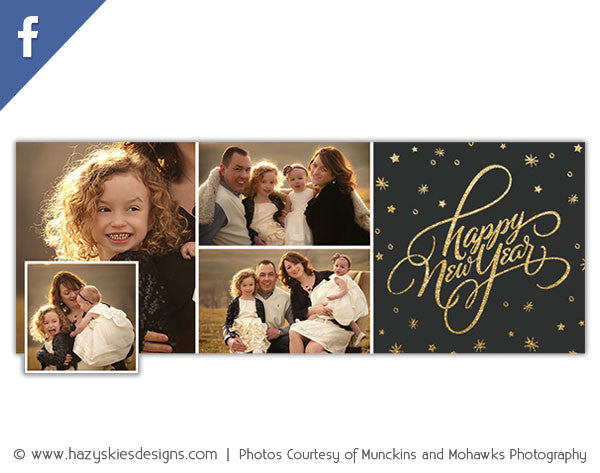 Free New Years Facebook Timeline Cover Template For Photographers