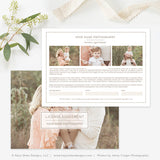 Photography Print Release Template | Organic
