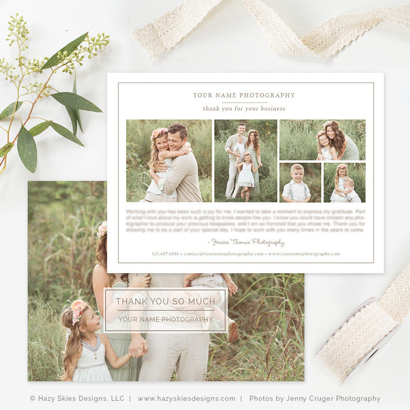 Photography Thank You Card Template Photography Marketing Templates