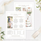 5x7 Wedding Photography Price List Template | Organic