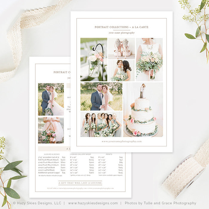 Wedding Photography Pricing Template, Photography Price List ...
