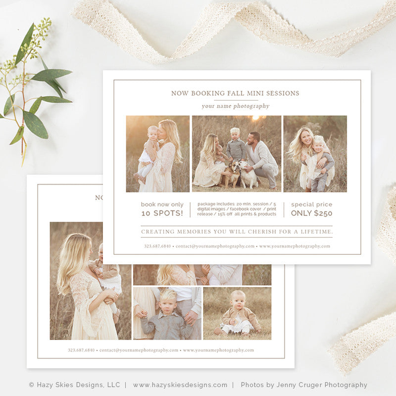 mini session template photography flyer template photography