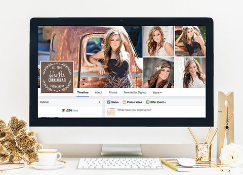 Facebook Cover Template | Earth Tones