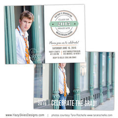 Senior Graduation Card Template | Labeled