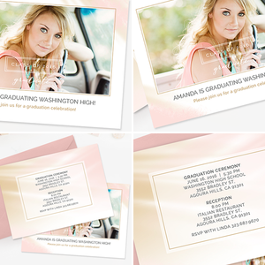 Senior Graduation Card Template | Blush