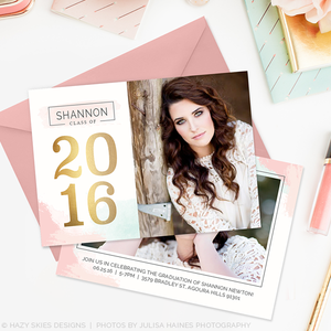Senior Graduation Announcement Template | Cotton Candy