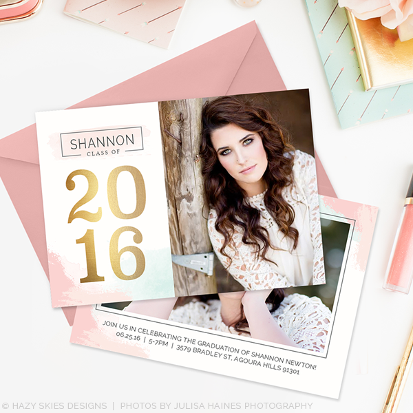 senior graduation announcement templates for photographers photoshop