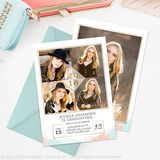 Senior Graduation Announcement Template | Brushed